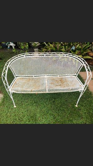 VINTAGE METAL BENCH for Sale in Lake Worth, FL