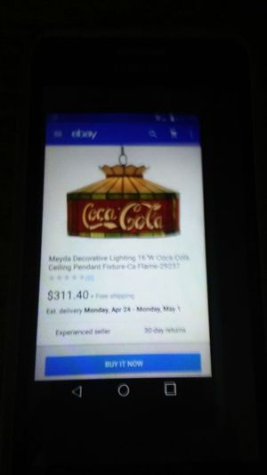 Coca cola light fixture for Sale in Greenville, SC