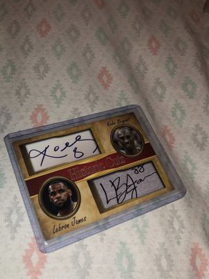 jr smith auto, Kobe card, nene, John starks, and Chris bosh for Sale in Canton, OH