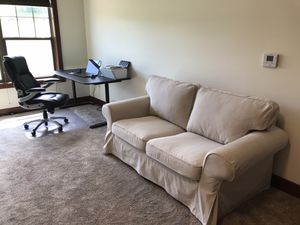 Loveseat (foldable after removing sides and pillows, fits in a small car) for Sale in Eau Claire, WI