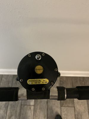 Tidewater 30L Conventional Trolling Grouper Reel and Rod Fishing Combo for Sale in Tampa, FL