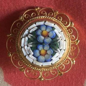 Rare Vintage Italian Micro Mosaic Brooch for Sale in Midlothian, VA