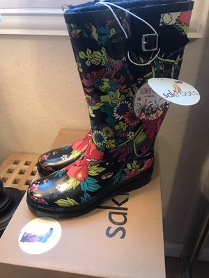Sak Roots - Flower Power Rain Boots (NEW) 9 for Sale in Irvine, CA