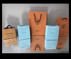 Hermès, Tiffany & Co. & Louis Vuitton LV retail bags decor for Sale in Las Vegas, NV