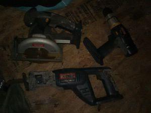 Ryobi power tools (Drill, Circular saw,&Saw-zaw) for Sale in St. Petersburg, FL