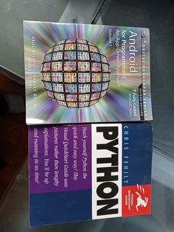 Android and python programmer's books Make Offer for Sale in Vancouver,  WA