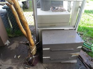 Ice chest, filing cabinet, drawers, ac units, misc worn furniture for Sale in Springfield, OR