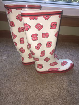 NCSU State rain boots size 6 ladies for Sale in Cary, NC