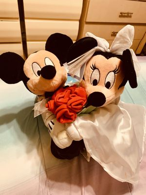 Disney -Minnie & Mickey Mouse Bride & Groom wedding plush- for Sale in Columbus, OH