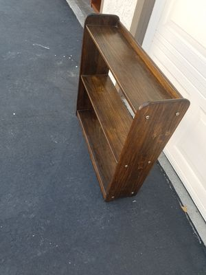 2 Small Bookshelves different 1 dark wood the other lighter wood for Sale in Diamond Bar, CA