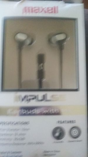 Impulse Earbuds with Mic for Sale in Grove City, OH