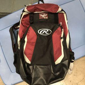 Rawlings Baseball Backpack- Maroon for Sale in Brooklyn, NY