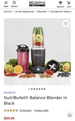 Never opened NutriBullet Balance Blender for Sale in Arlington, VA