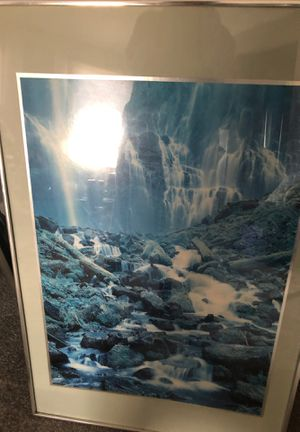 Silver framed wall picture for Sale in Carnegie, PA