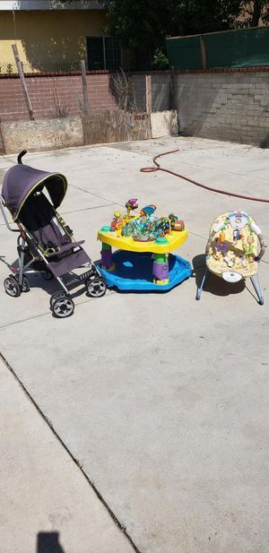 Babies R us stroller + evenflo exersaucer + bird baby bouncer +tummy time owl for Sale in Los Angeles, CA