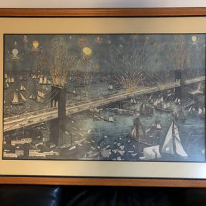 Exquisite Brooklyn Bridge Framed Poster for Sale in Bethesda, MD