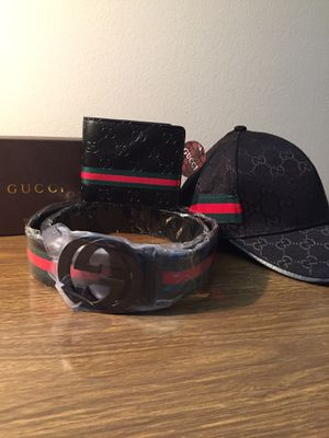 Matching Gucci Collection! Black Belt, Hat, and Wallet! for Sale in MAYFIELD VILLAGE, OH