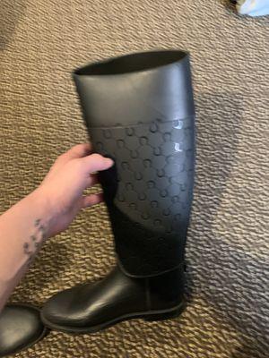 Salvador ferragamo rain boots size 8 women's for Sale in Westerville, OH