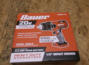"Bauer 20v lithium ion 1/2"" impact wrench new in box for Sale in New Cumberland, PA"