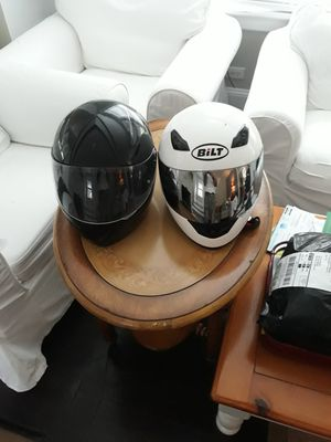Motorcycle helmets black lrg white 2x for Sale in Milford, CT