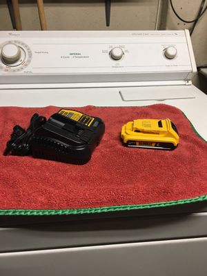 Dewalt new battery and charger firm price no offers for Sale in Lemon Grove, CA