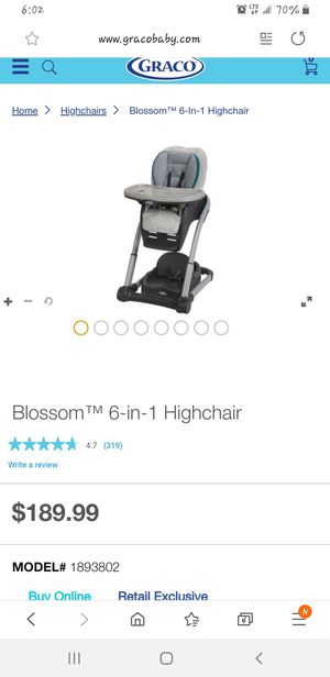Grace Blossom™ 6-in-1 Highchair for Sale in Brooklyn, NY