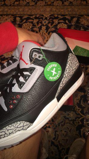Jordan 3 Black cement size 10.5 100% Authentic for Sale in Atlanta, GA