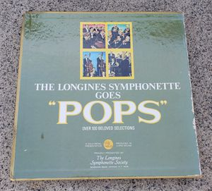 """The Longines Symphonette Goes """"Pops"""" Vinyl Record 7 Record Set Excellent Cond for Sale in Lake Elsinore, CA"""