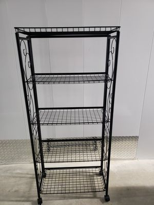 Collapsible 5 shelf Bakers Rack for Sale in Miami, FL