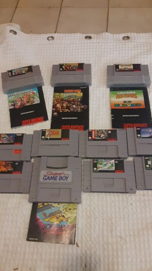 Super Nintendo game lot for Sale in Roswell, GA
