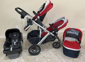 Uppababy Vista (extra seat + uppababy carseat) for Sale in Leander, TX