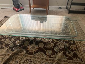Coffee table with glass top for Sale in San Leandro, CA