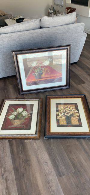 3 home decor picture frames for Sale in Lake Forest, CA