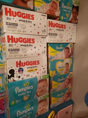 Huggies and pampers diapers .. for Sale in Houston, TX