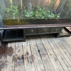 150gal Fish Tank With Custom Hardwood Stand for Sale in Capitola, CA