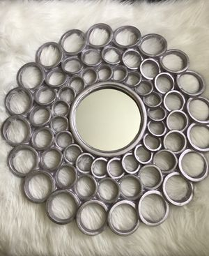 "24"" metallic circular mirrored wall hanging for Sale in Pawtucket, RI"