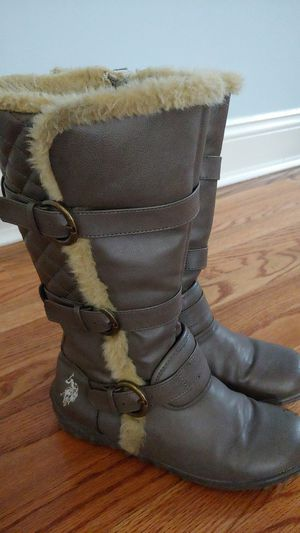 Uspolo Girls boots(size 3) for Sale in Stafford, VA
