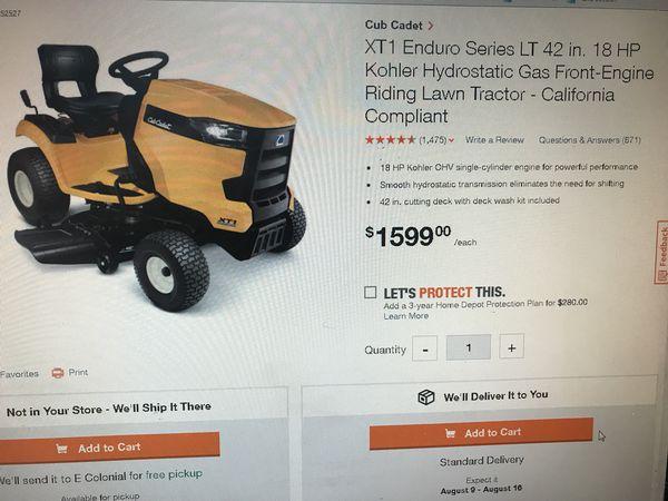 "Cub Cadet XT1 LT 42"" 18hp Riding Lawn Mower for Sale in Orlando, FL -  OfferUp"
