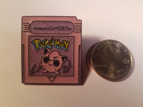 *SHIP ONLY* Gameboy Color Game Cartridge Jigglypuff Hard Enamel Collectible Pokemon Pin Badge