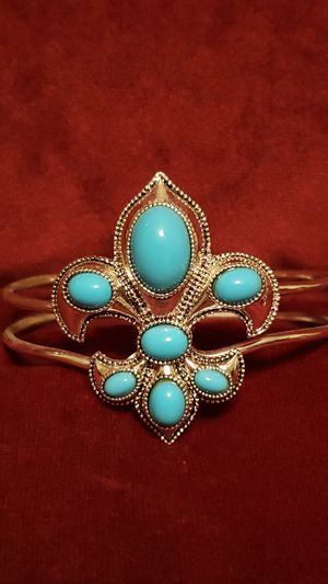 Turquoise and silver style bracelet for Sale in Alvaton, KY