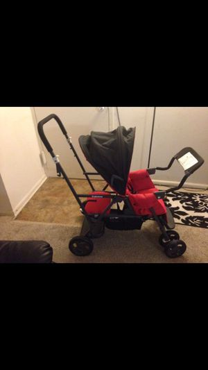 Caboose double stroller sit and ride w/car seat extender for Sale in Germantown, MD
