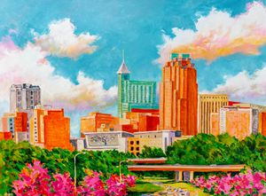 """""""Raleigh Skyline"""" 18x24 inch signed print (unframed) for Sale in Raleigh, NC"""