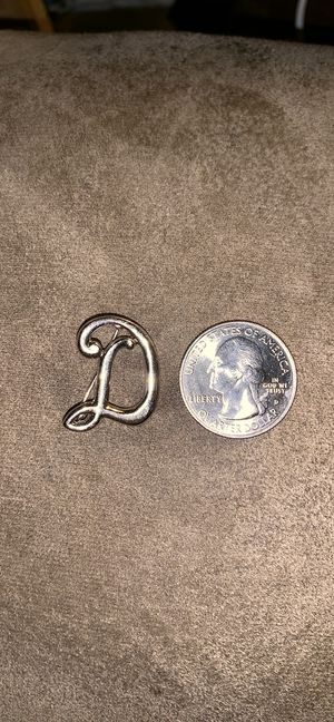 Sterling silver D brooch for Sale in Austin, TX