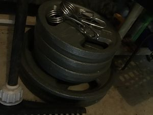 4x 25, 2x 45, 45 lb barbell for Sale in Hayward, CA