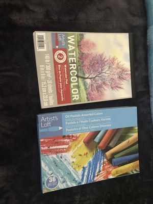 Watercolor and oil pastels for Sale in Alexandria, VA