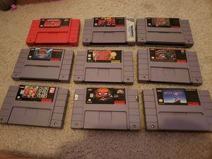 9 Super Nintendo Games for Sale in Clarksburg, MD