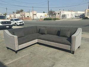 NEW 7X9FT ANNAPOLIS GRANNITE FABRIC SECTIONAL COUCHES for Sale in Santa Clarita, CA