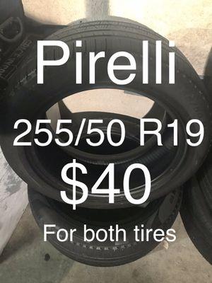2 Pirelli Scorpio 255/50 R19 for Sale in Hayward, CA