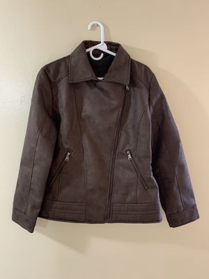 Brand new leather jacket superlative fashion made in italy for Sale in North Miami, FL