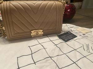 Chanel boy beige with gold for Sale in Gilbert, AZ